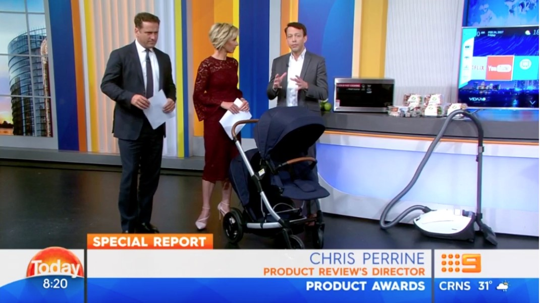 Product Review awards on Today show